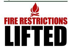 fire restriction lifted