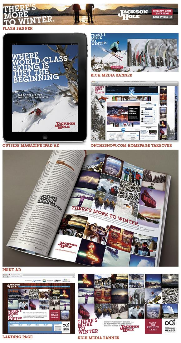 Collage of Winter 2012-2013 Advertisement Efforts