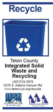 Recycling Brochure front cover